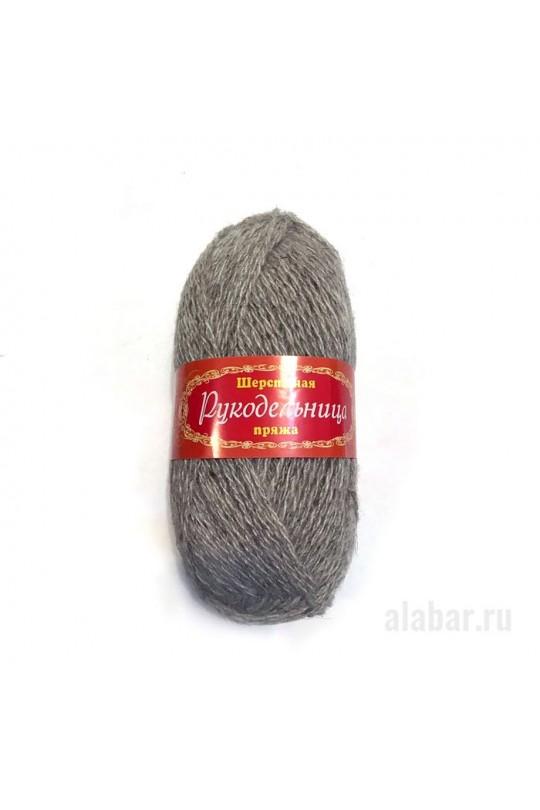 Карачаевская пряжа «Рукодельница» Св. серый|ПР-0001