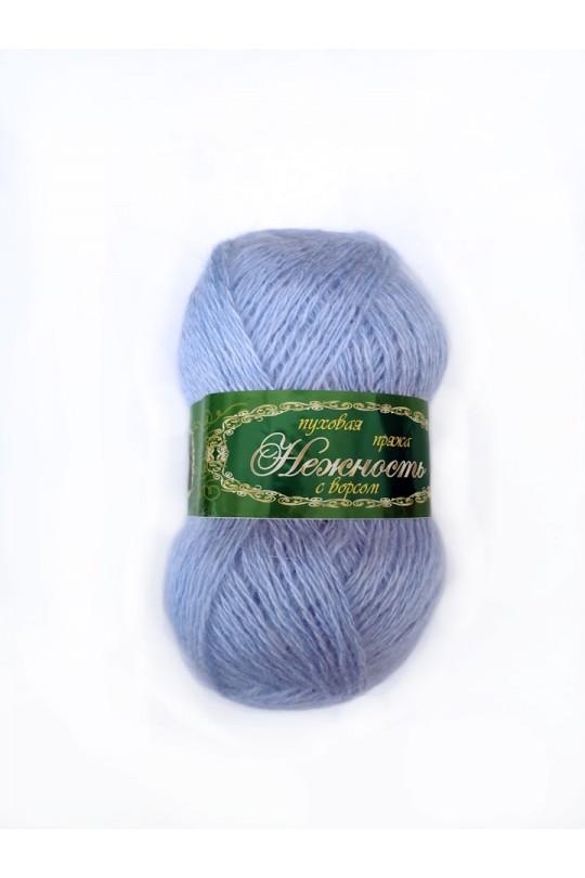 Пряжа «Нежность» с козьим пухом светло-голубой   ПН-0036