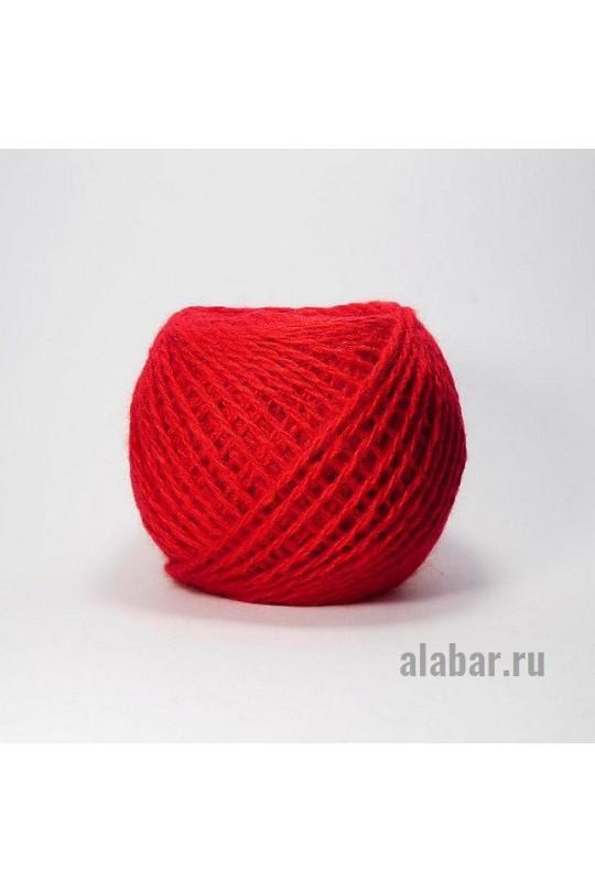 Карачаевская пряжа в клубках 40-42 грамм Алый  ПКК-0002