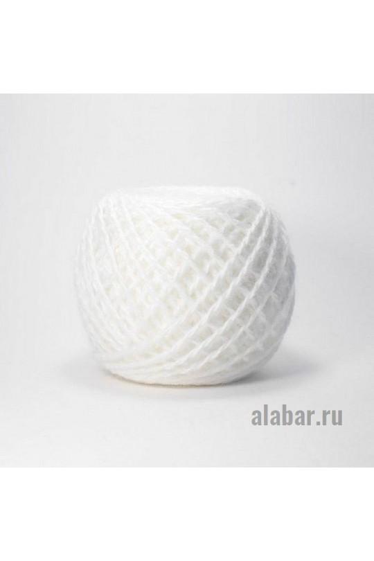 Карачаевская пряжа в клубках 40-42 грамм Белый  ПКК-0005
