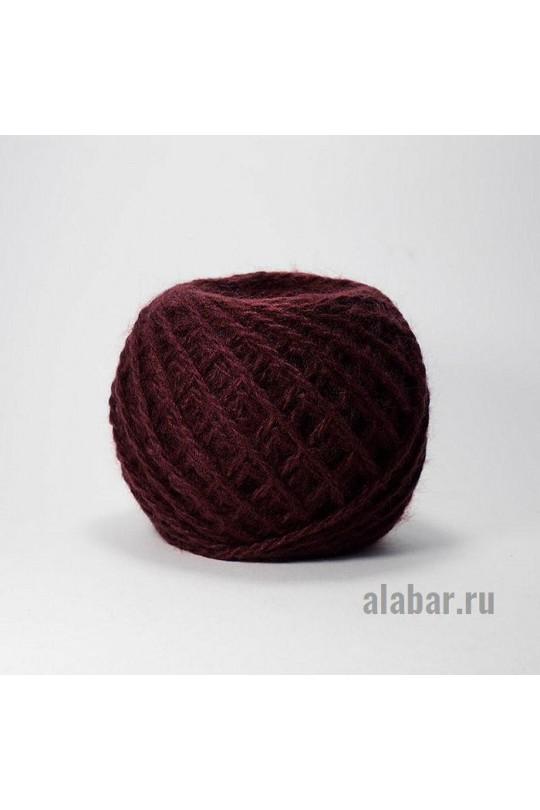 Карачаевская пряжа в клубках 40-42 грамм Бордо  ПКК-0007