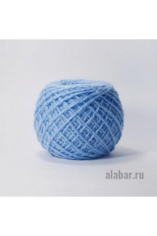 Карачаевская пряжа в клубках 40-42 грамм Голубой  ПКК-0014