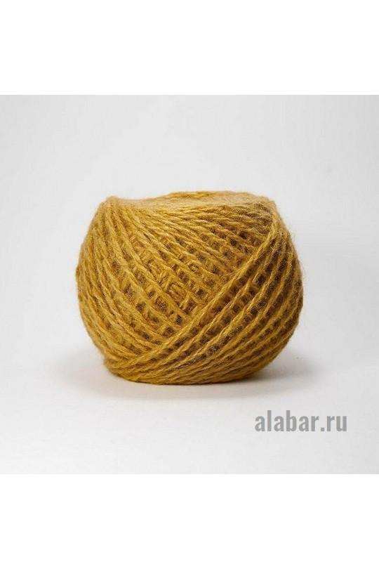 Карачаевская пряжа в клубках 40-42 грамм Горчица  ПКК-0015