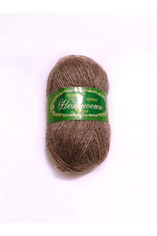 Пряжа «Нежность» с козьим пухом Орех   ПН-0036