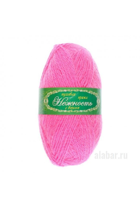 Пряжа «Нежность» с козьим пухом Розовый  ПН-0027