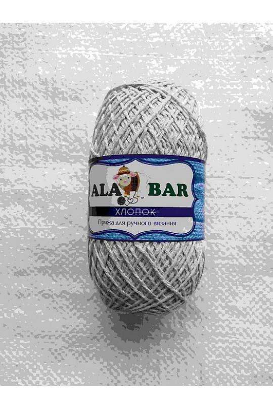 Пряжа турецкая хлопок Серый| ПТ-0012