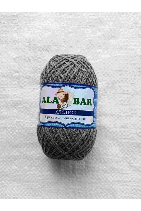 Пряжа турецкая хлопок Тёмно-серый| ПТ-0011